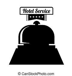 Hotel service icon graphic design, vector illustration eps10