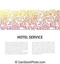 Hotel Service Line Template. Vector Illustration of Outline ...
