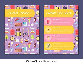 Hotel Services Information List on Internet Page