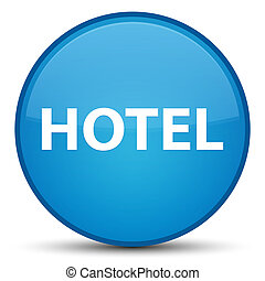 Hotel special cyan blue round button