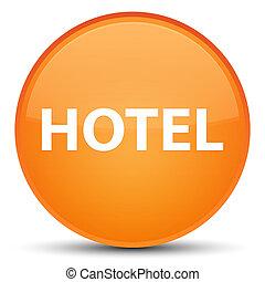 Hotel special orange round button
