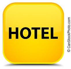 Hotel special yellow square button