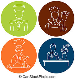 Hotel Staff Icons - An image of hotel staff.