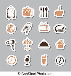 hotel, stickers