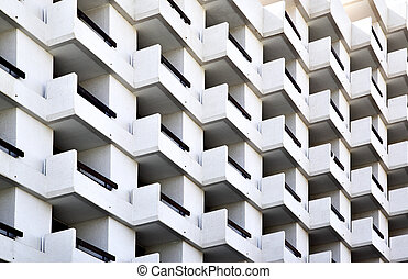 Hotel - Balconies of modern hotel, may be used as background