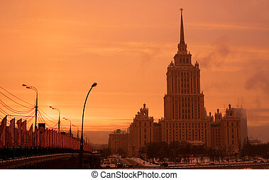 "Hotel ""Ukraine\"", one of Seven Sisters - famous skyscrapers..."