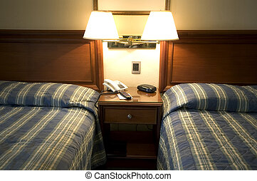 hotel suite guatemala city twin beds lamp reading modern