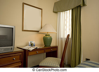 hotel suite office with desk and tv central america