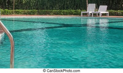 Hotel swimming pool with sunny reflections - Swimming pool...