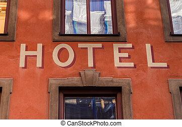 hotel, tafel