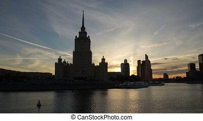Hotel Ukraina hyperlapse  - Hotel Ukraina in Moscow, Russia