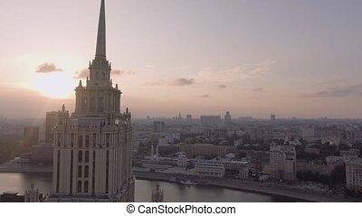 Hotel Ukraine and embankment