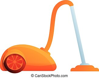Hotel vacuum cleaner icon, cartoon style