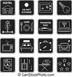 Hotel vector black icons