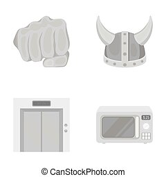 hotel, Viking and other monochrome icon in cartoon style.electrical appliance, box icons in set collection.