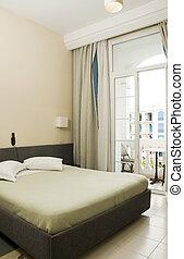 hotel  with balcony over Avenue Habib Bourguiba Tunisia Africa