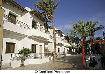 dahab - hotel with diving equipment in dahab, red sea, sinai...