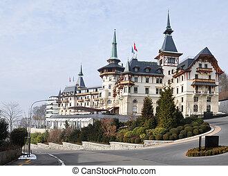 hotel, zwitserland, oud