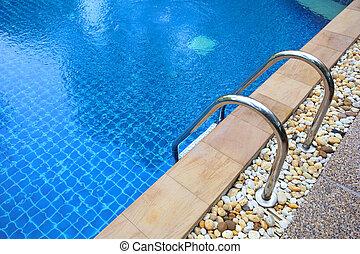 hotell damm, trappsteg, simning