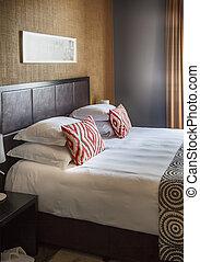 hotell, inre, rum, klassisk