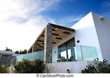 hotell, peloponnes, villa, nymodig, lyxvara, grekland