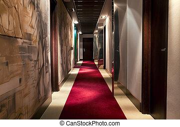 hotel`s, corridoio