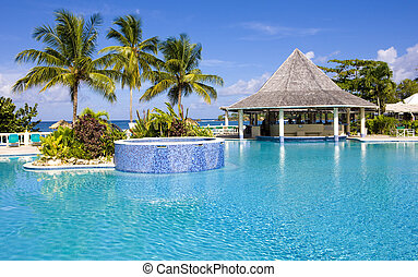 hotel's swimming pool, Tobago