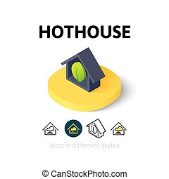Hothouse icon in different style