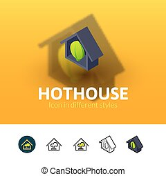 Hothouse icon in different style - Hothouse color icon, ...