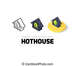 Hothouse icon in different style - Hothouse icon, vector ...