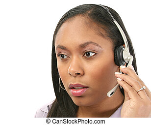 Hotline Help - Beautiful woman with concerned expression ...