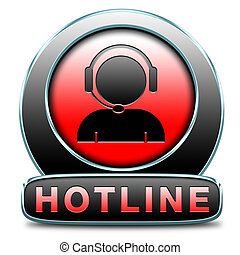hotline icon call center button or helpline sign for online ...
