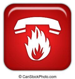 Hotline icon isolated on white