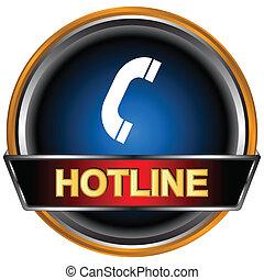 Blue hotline logo on a white background