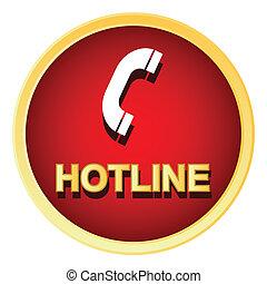 Hotline logo - Red hotline logo on a white background