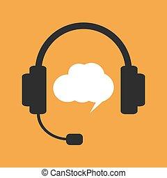 Hotline or support illustration