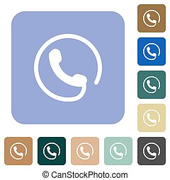 Hotline rounded square flat icons