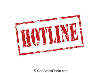 Hotline - Rubber stamp with word hotline inside, vector...