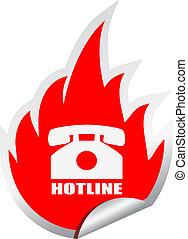 Hotline vector emblem isolated on white