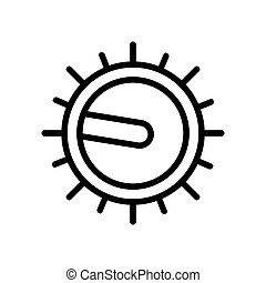 hotplate control icon vector. hotplate control sign. isolated contour symbol illustration