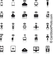 hotspot, iconen, draadloos, vector