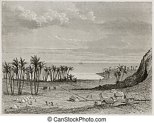 Houagap old view, New Caledonia. Created by Moyner after ...