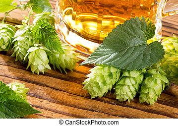 houblon, vie, encore, bière
