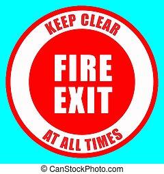 houd duidelijk, illustratie, vuur, eps10, vector, ...