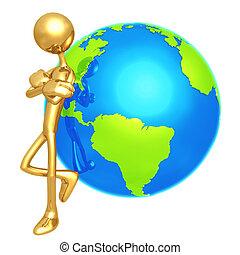 houding, mager, wereld