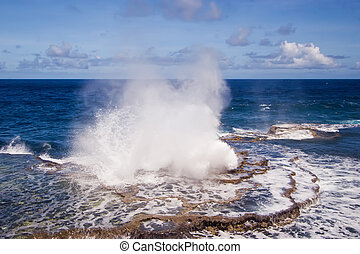 Houma Blowholes 01 - The blowholes put on a spectacular ...