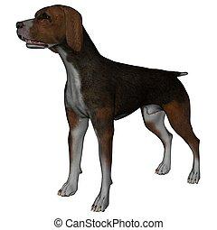 Hound - 3D rendered hound dog on white background isolated