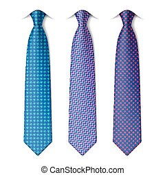 Houndstooth and zigzag ties