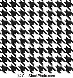 houndstooth, black-white, patrón