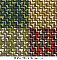 houndstooth, ensemble, patterns., camouflage